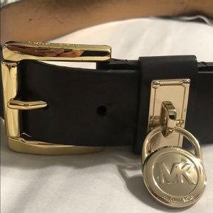 Michael Kors Gold/brown Belt Sise Small